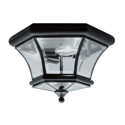 Outdoor Black Flush Mount