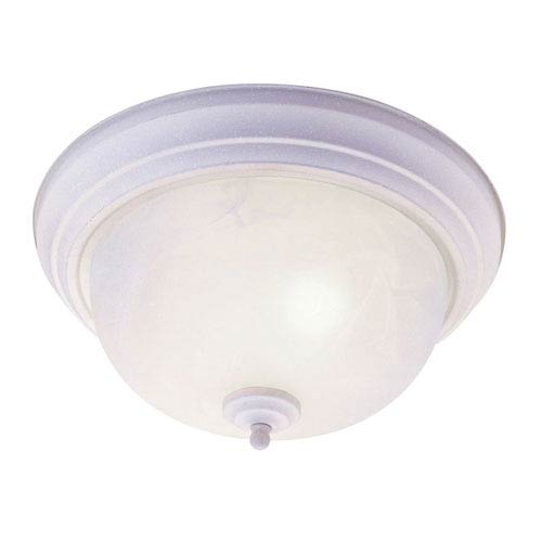Livex Lighting Home Basics White Three-Light Ceiling Mount