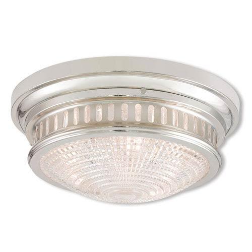 Berwick Polished Nickel Three-Light 15-Inch Ceiling Mount