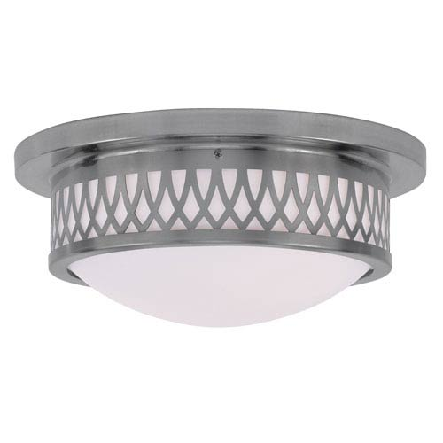 Livex Lighting Westfield Brushed Nickel Two-Light Ceiling Mount