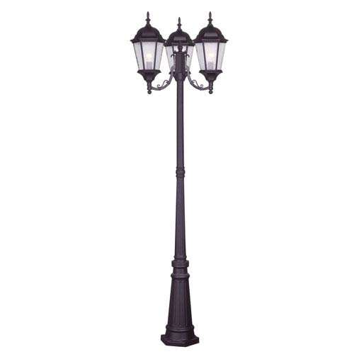 Hamilton Bronze Three-Light 86-Inch Outdoor Post Mount