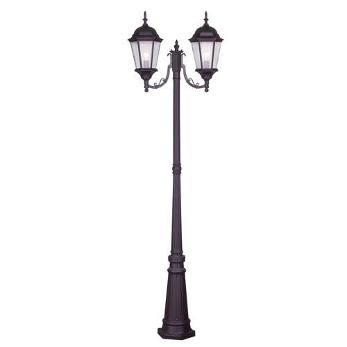 Hamilton Bronze Two-Light Outdoor Post Mount