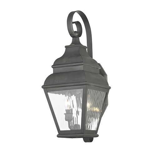 Exeter Charcoal Two-Light Outdoor Wall Lantern