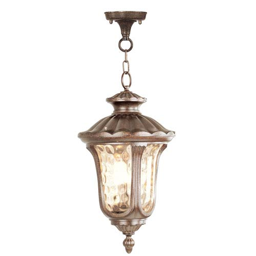 Livex Lighting Oxford Moroccan Gold Three-Light Exterior Lantern Fixture