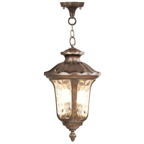 Oxford Moroccan Gold Three-Light Outdoor Pendant