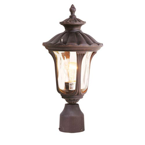 Livex Lighting Oxford Imperial Bronze One Light 15.5-Inch Outdoor Post Head