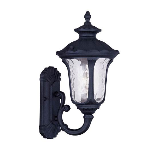 Oxford Black One Light 15.5-Inch Outdoor Wall Lantern
