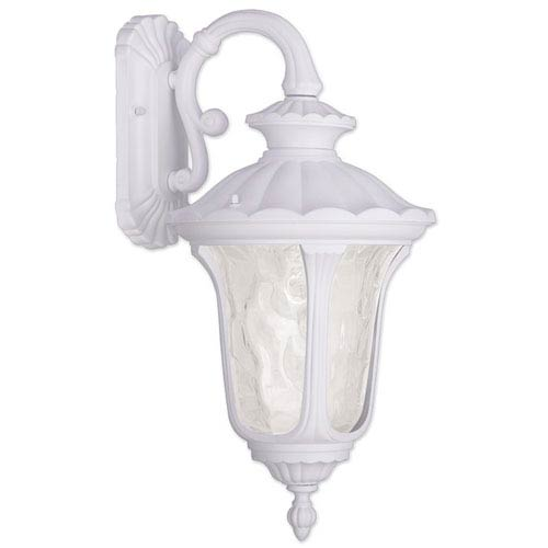 Oxford White 19-Inch One Light Outdoor Wall Lantern