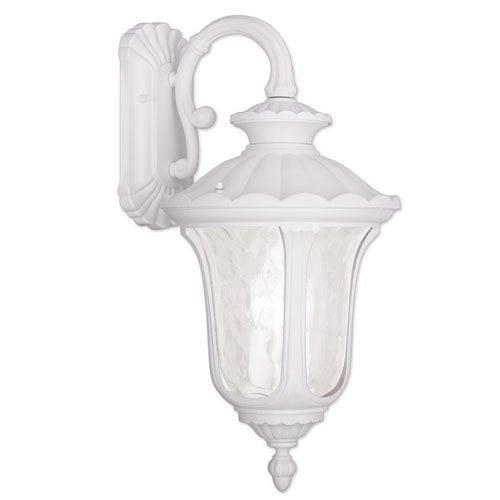 Oxford White 12.5-Inch Three Light Outdoor Wall Lantern
