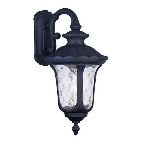 Livex Lighting Oxford Black Three Light 22.5-Inch Outdoor Wall Lantern