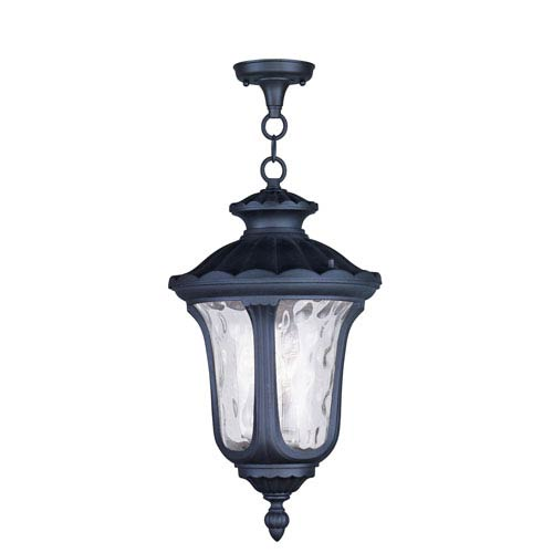 Oxford Black Three Light 20.5-Inch Outdoor Chain Hang
