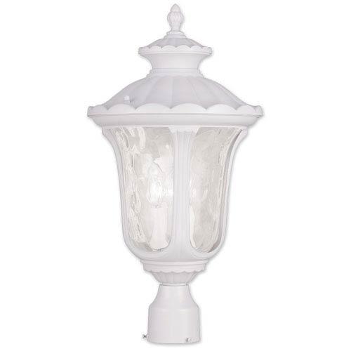 Livex Lighting Oxford White 22-Inch Three Light Outdoor Post Head