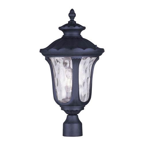 Livex Lighting Oxford Black Three Light 22-Inch Outdoor Post Head