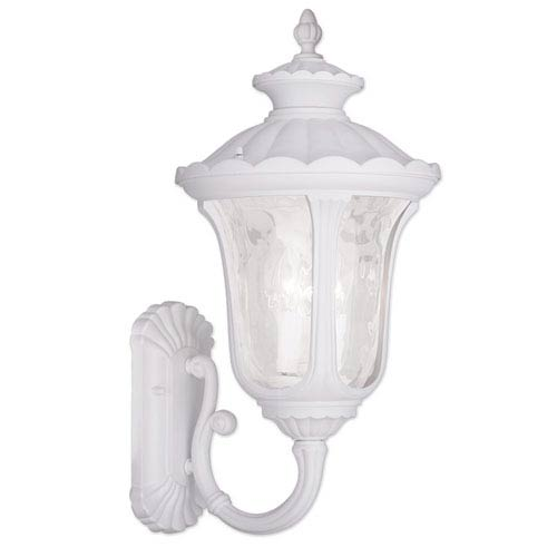 Livex Lighting Oxford White 16.25-Inch Three Light Outdoor Wall Lantern