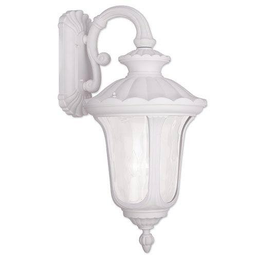 Livex Lighting Oxford White 16-Inch Three Light Outdoor Wall Lantern