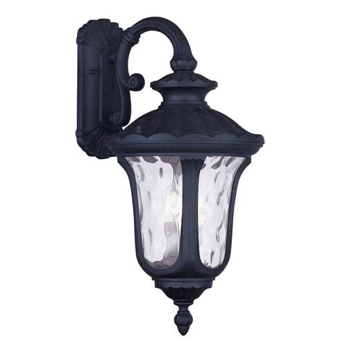 Oxford Black Three Light Outdoor Wall Lantern
