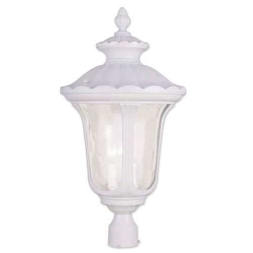 Oxford White 26.5-Inch Three Light Outdoor Post Head