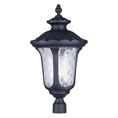 Oxford Black Three Light 26.5-Inch Outdoor Post Head