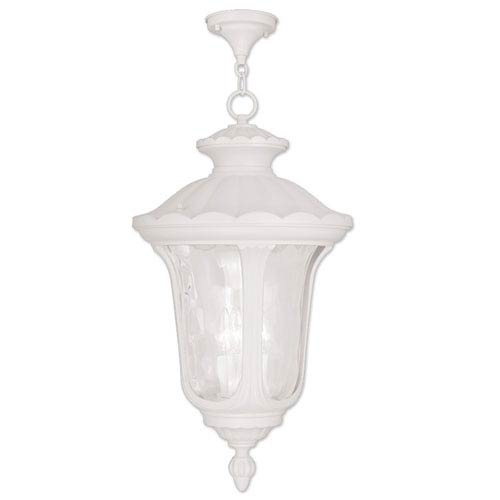 Oxford White 26-Inch Three Light Outdoor Chain Hung Pendant