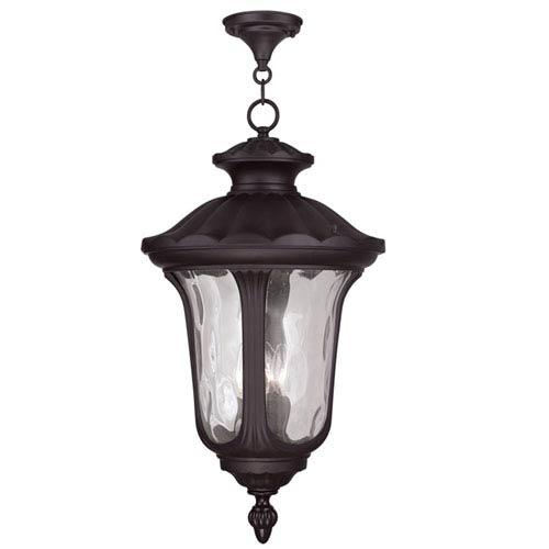 Livex Lighting Oxford Bronze 26-Inch Three Light Outdoor Chain Hung Pendant