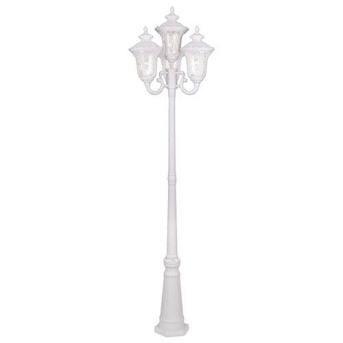 White outdoor post lighting bellacor oxford white four light outdoor 4 head post aloadofball Choice Image
