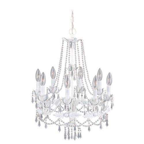 Livex Lighting Regal Eight-Light Antique White Chandelier