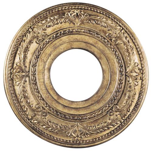 Vintage Gold Leaf 12-Inch Ceiling Medallion