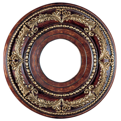 Verona Bronze with Aged Gold Leaf Accents 12-Inch Ceiling Medallion