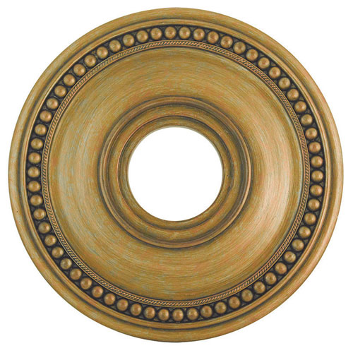 Wingate Hand Painted Antique Gold Leaf 16-Inch Ceiling Medallion