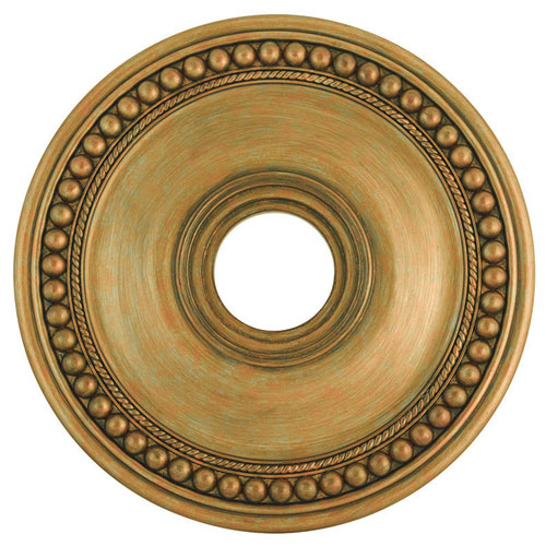 Wingate Hand Painted Antique Gold Leaf 20-Inch Ceiling Medallion