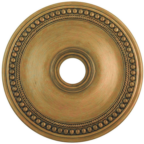 Wingate Hand Painted Antique Gold Leaf 24-Inch Ceiling Medallion