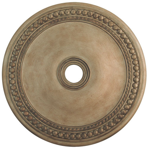 Wingate Hand Painted Antique Silver Leaf 36-Inch Ceiling Medallion