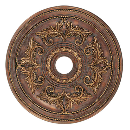 Livex Lighting Large Crackled Greek Bronze Ceiling Medallion