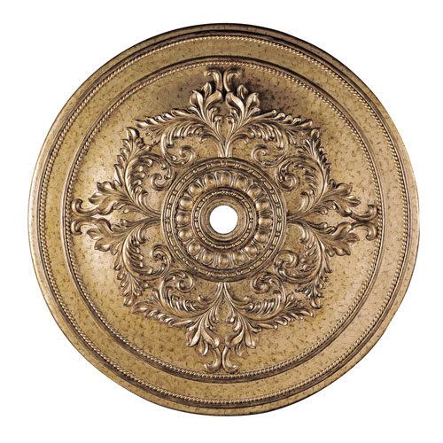 Vintage Gold Leaf 60-Inch Ceiling Medallion