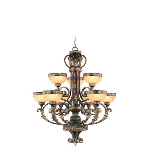Seville Palacial Bronze Nine-Light Chandelier