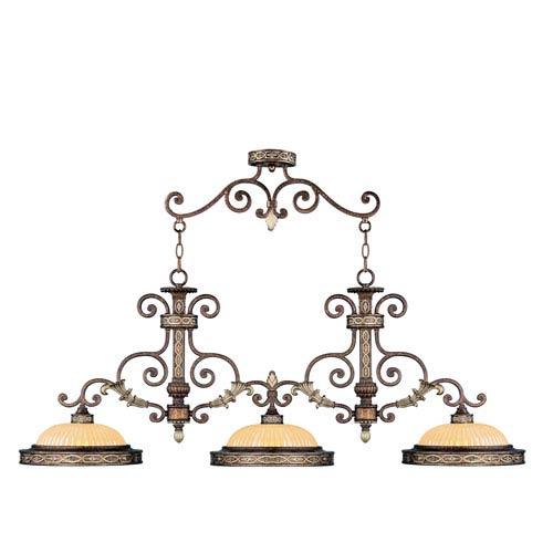 Seville Palacial Bronze Three-Light Island Pendant