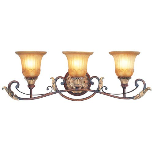 Villa Verona Bronze Three-Light Bath Fixture