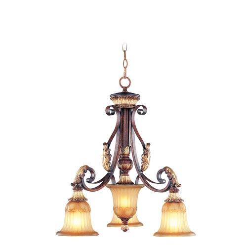 Villa Verona Bronze Three-Light Chandelier