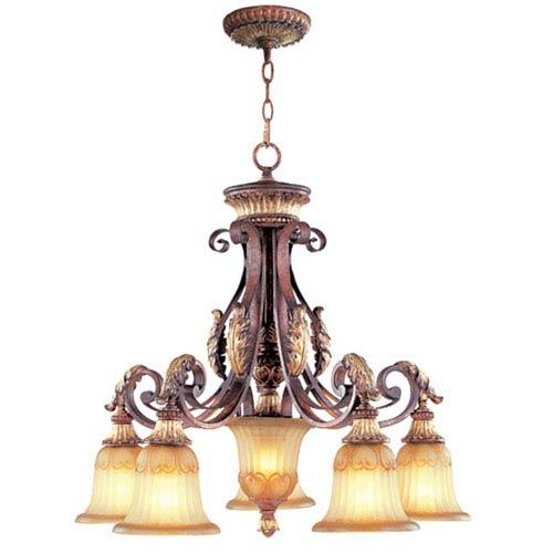 Villa Verona Bronze Five-Light Chandelier