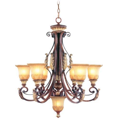 Villa Verona Bronze Six-Light Chandelier