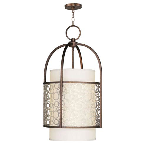 Livex Lighting Avalon Palatial Bronze with Gilded Accents Four-Light Foyer Pendant