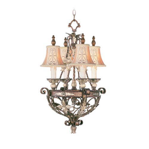 Pamplona Palacial Bronze Four-Light Chandelier
