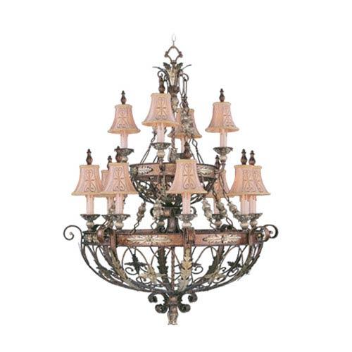 Pamplona Palacial Bronze Twelve-Light Chandelier
