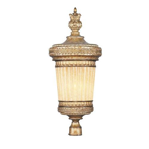 La Bella Vintage Gold Leaf One-Light Outdoor Post Light