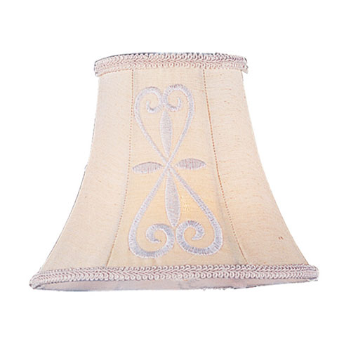 Hand Embroidered Silk Chandelier Shade