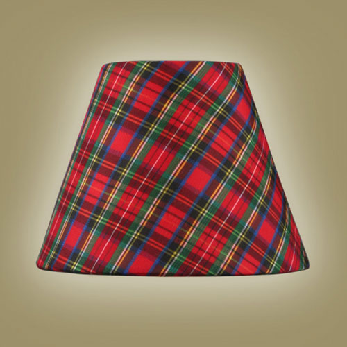 Plaid Hardback Clip Chandelier Shade