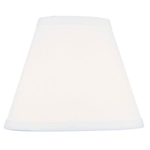 White 4-Inch Hardback Empire Shade