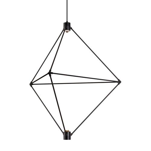 Candora Black 34-Inch LED Chandelier