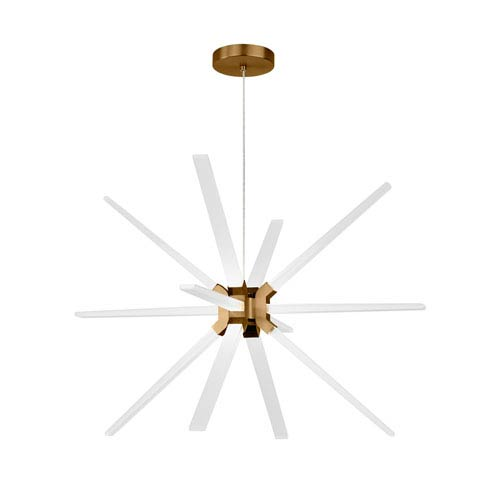Photon Aged Brass 34-Inch LED Chandelier