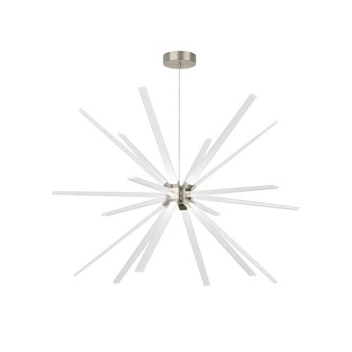 Photon Satin Nickel 48-Inch LED Chandelier